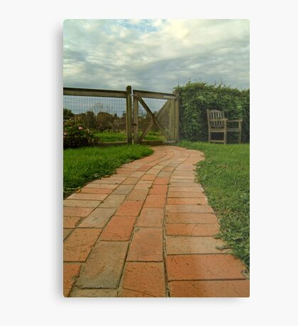 Up The Garden Path Metal Print
