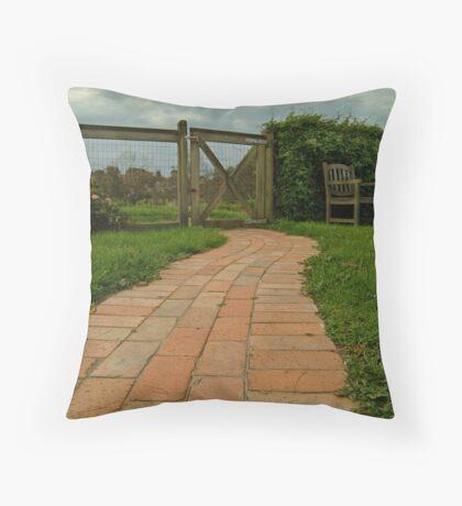 Up The Garden Path Throw Pillow