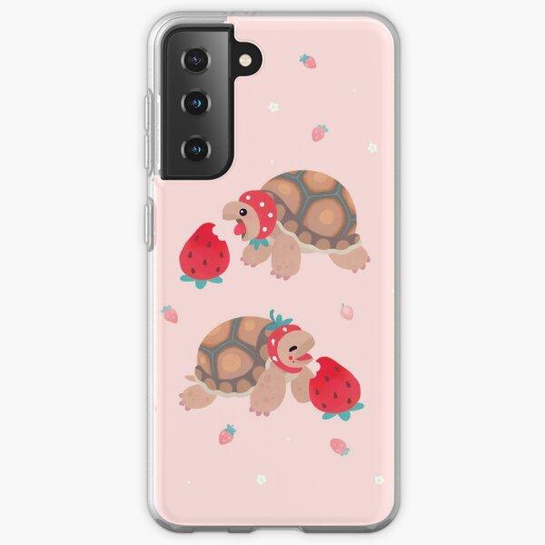 Tortoises love strawberries Samsung Galaxy Soft Case