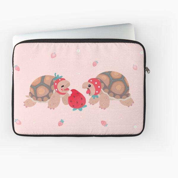Tortoises love strawberries Laptop Sleeve