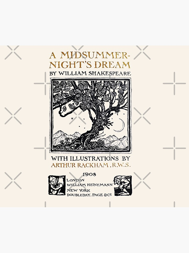 A Midsummer-Night's Dream William Shakespeare Title Page by buythebook86