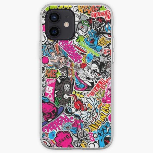 StickerBomb fun iPhone Soft Case