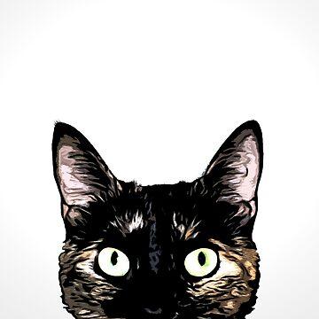 Peeking Cat by Nicklas81