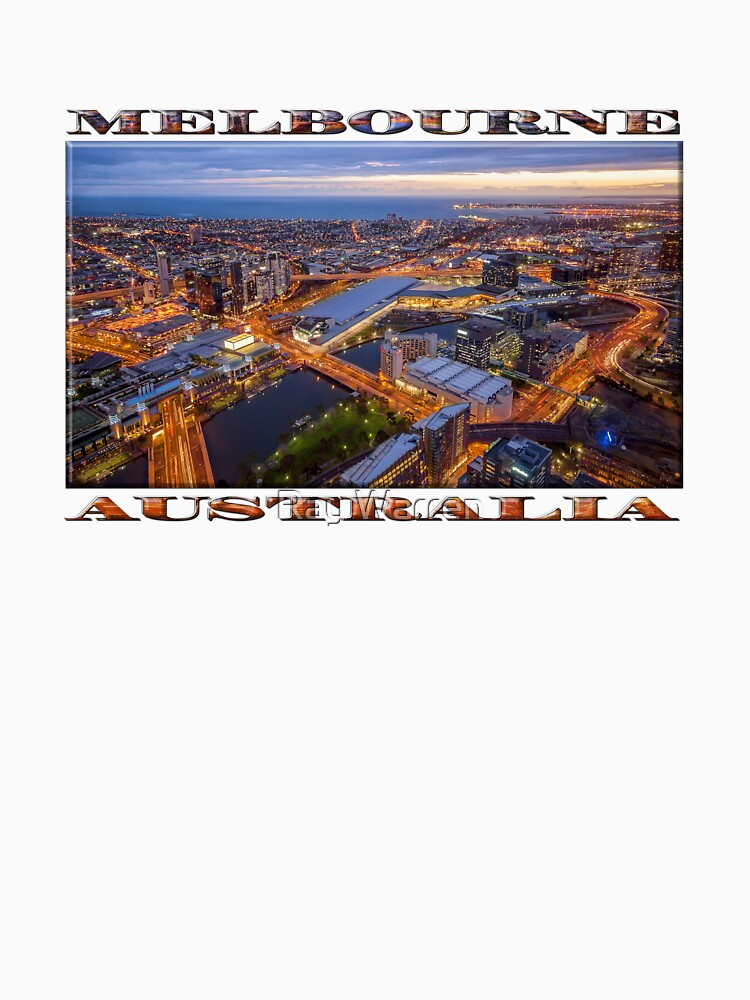 Stunning Melbourne (widescreen poster on white) by RayW