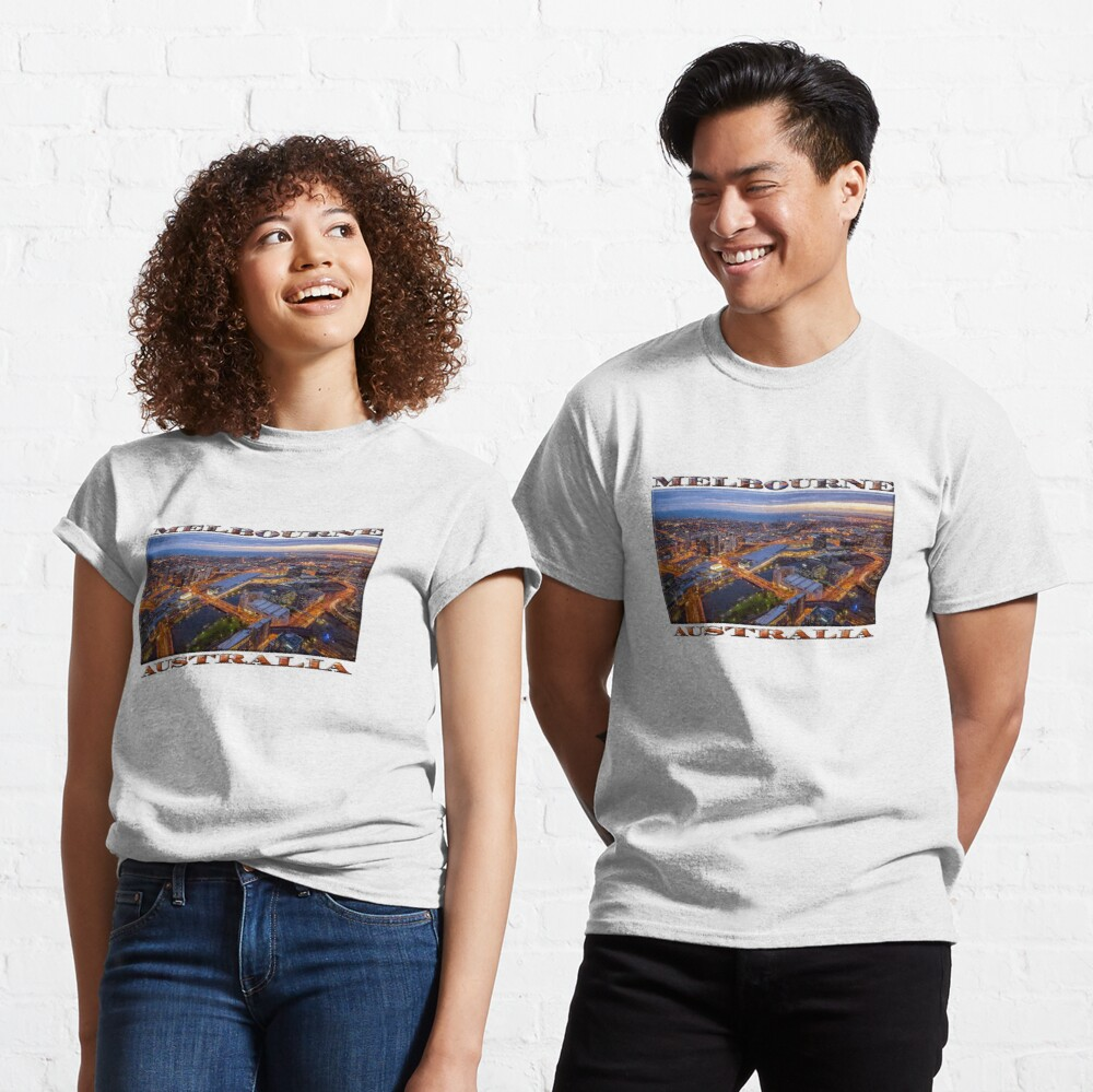 Stunning Melbourne (widescreen poster on white) Classic T-Shirt