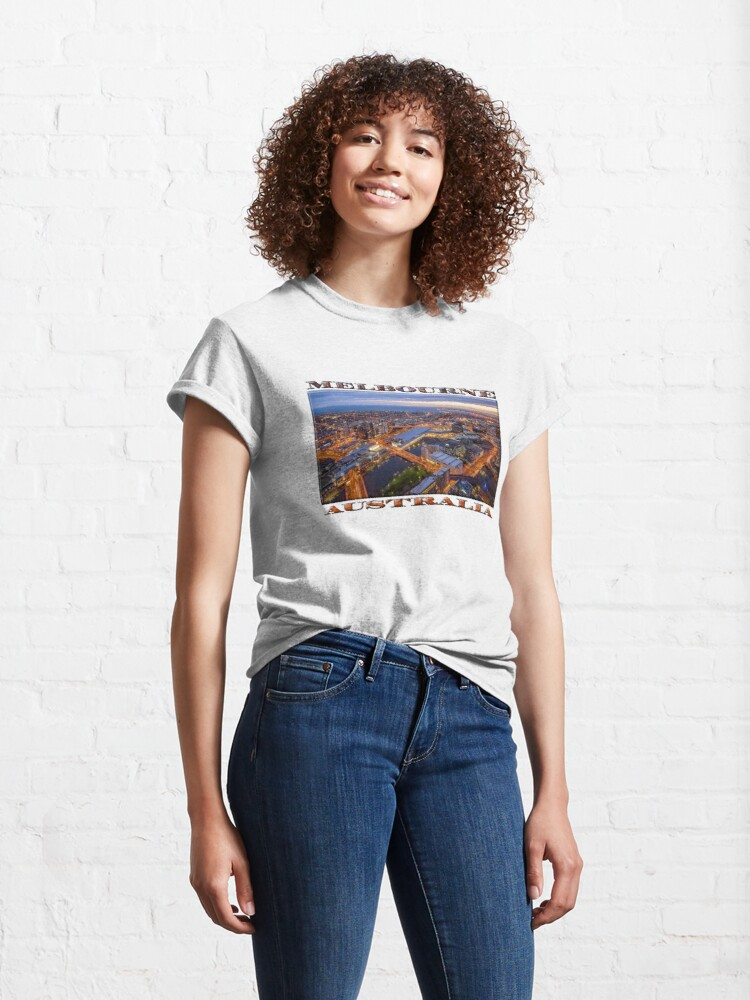 Alternate view of Stunning Melbourne (widescreen poster on white) Classic T-Shirt