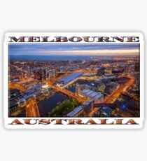 Stunning Melbourne (widescreen poster on white) Sticker