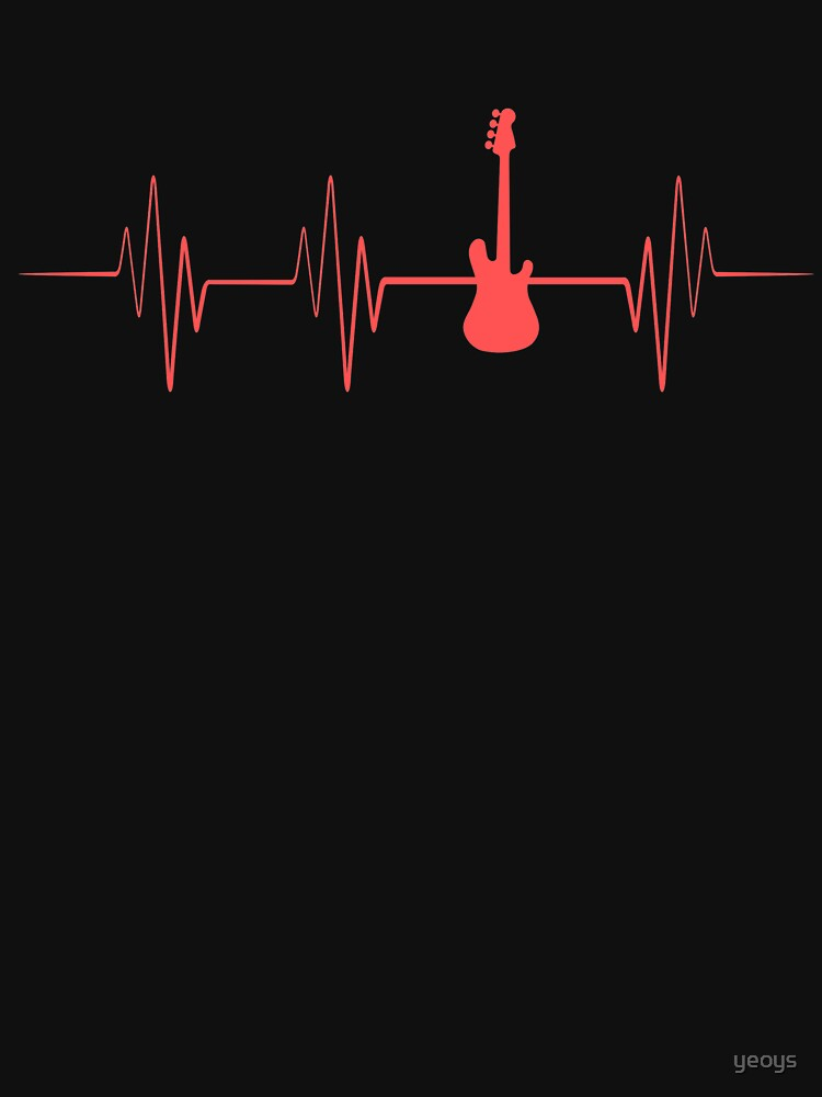 Guitar Player Heartbeat - Guitar Player Gift von yeoys