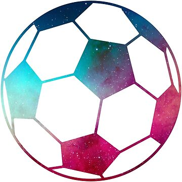 Galaxy Soccer Ball Blue And Pink Nebula by Distrill