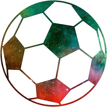 Galaxy Soccer Ball Green Red Nebula by Distrill