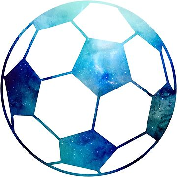 Galaxy Soccer Ball Light Blue Nebula by Distrill
