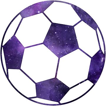 Galaxy Soccer Ball Purple Black Nebula by Distrill