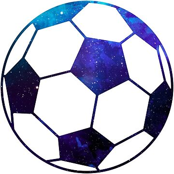 Galaxy Soccer Ball Blue Purple Nebula by Distrill