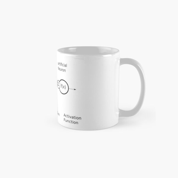 Artificial Neuron, A.I., Deep Learning, AI, Neural Network, Artificial Intelligence Classic Mug