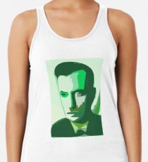 The Face of AI, Deep Learning, Neural Network, Digital, Face, Male, Man Women's Tank Top