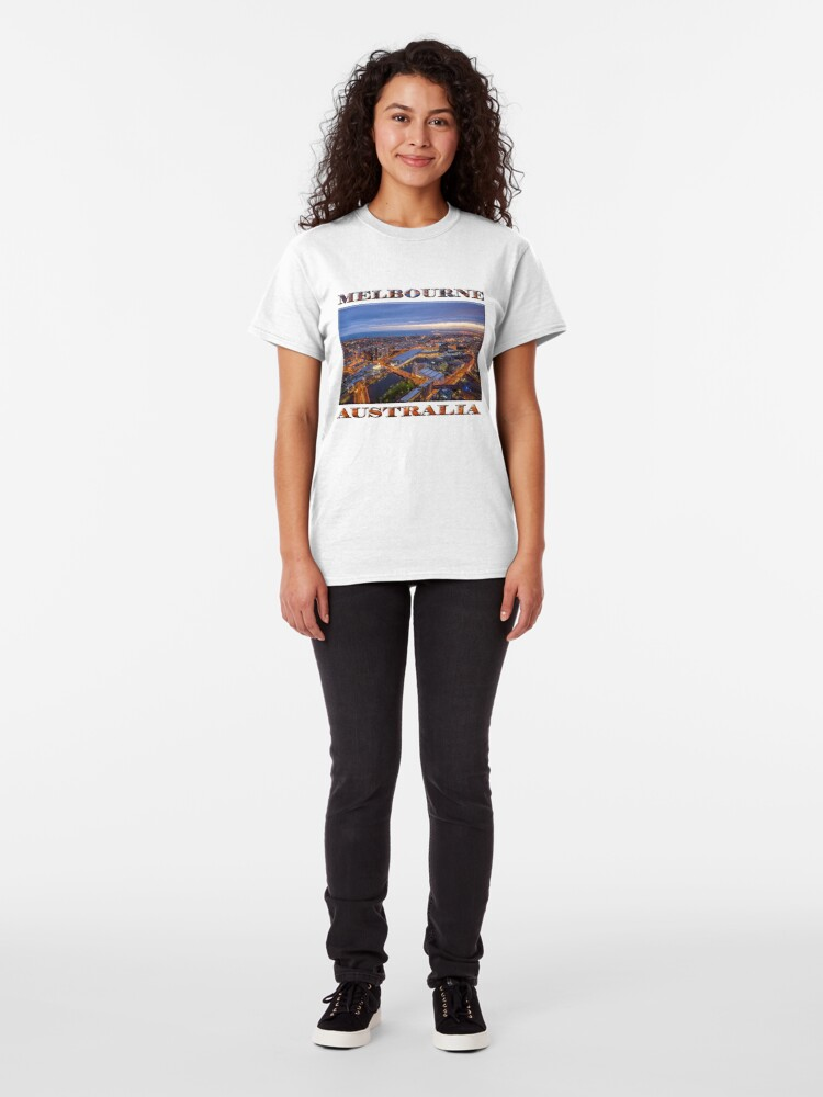 Alternate view of Stunning Melbourne (poster on white) Classic T-Shirt