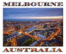 Stunning Melbourne (poster on white) by Ray Warren