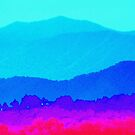 Steeple Against The Backdrop Of Mountains  by raindancerwoman
