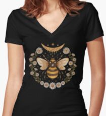 Honey moon Women's Fitted V-Neck T-Shirt