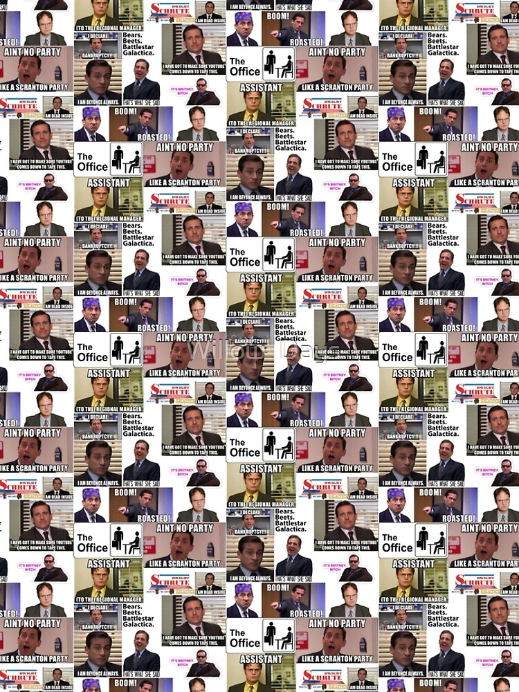 The Office US Montage, Dwighst Schute, Michael Scott, Gifts, Collage by avit1