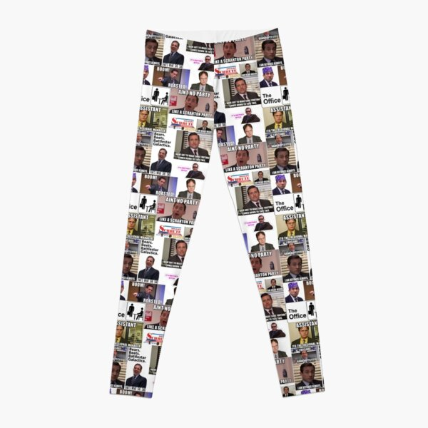 The Office US Montage, Dwighst Schute, Michael Scott, Gifts, Collage Leggings