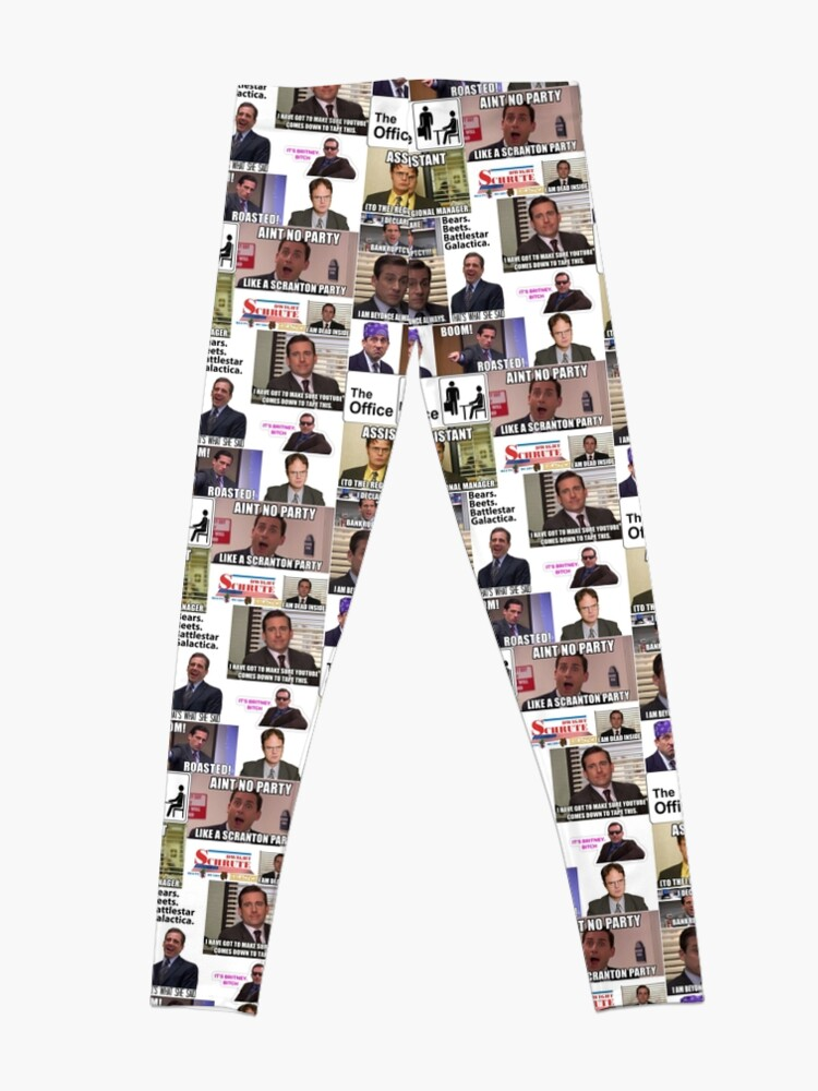 Alternate view of The Office US Montage, Dwighst Schute, Michael Scott, Gifts, Collage Leggings