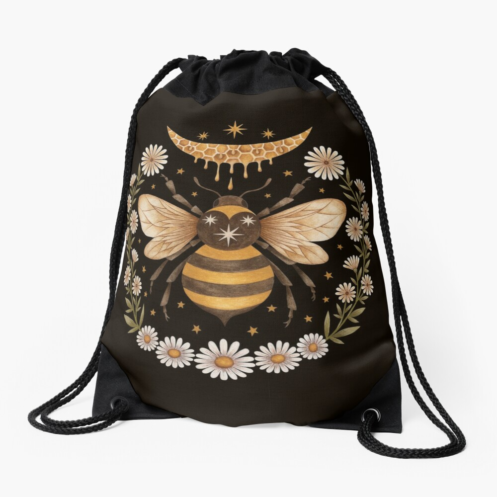 Honey moon Drawstring Bag