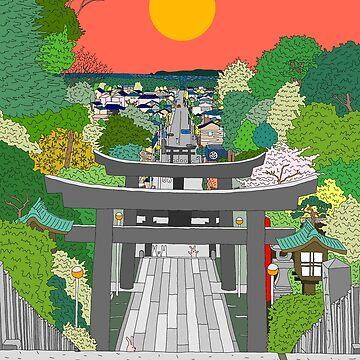 Passage to Light - Miyajidake Shrine by m-lapino