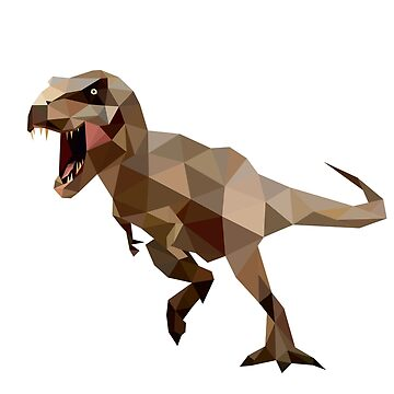 T-Rex Dinosaurs Jurassic Period Low Poly by IvonDesign