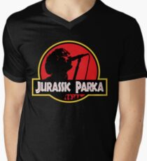 Jurassic Parka Men's V-Neck T-Shirt