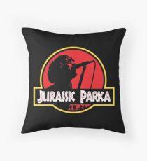 Jurassic Parka Throw Pillow