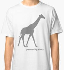 powered by plants - giraffe Classic T-Shirt