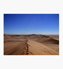 Where dunes and sky come together  Photographic Print