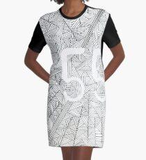 55 Birthday Pattern Graphic T-Shirt Dress