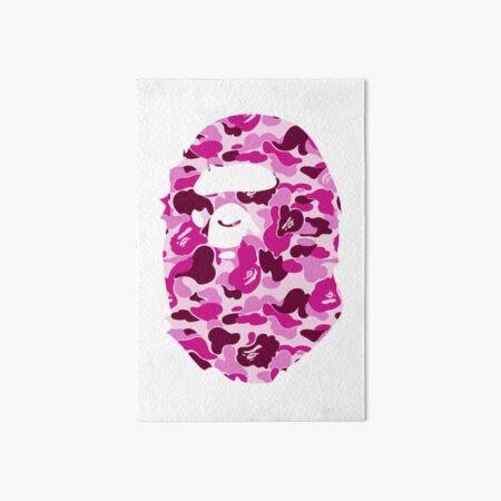 Pink Bape Logo Art Board Print