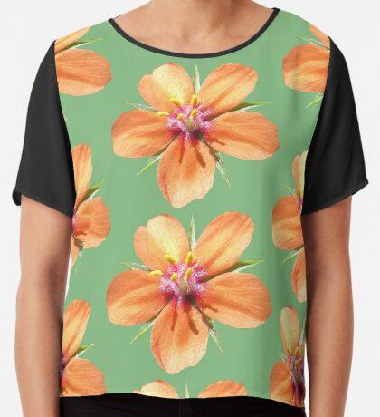 eine zauberhafte kleine Blume, orange, Blüte Chiffontop für Frauen