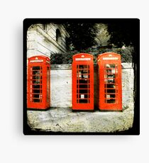 telephone booths Canvas Print