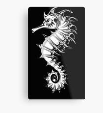Sea horse black and white Metal Print