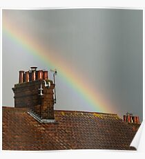 Rooftop Rainbow Poster