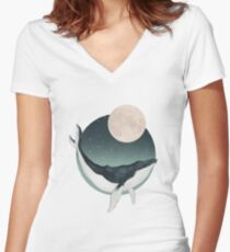 by the light of the moon Fitted V-Neck T-Shirt