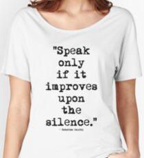 Mahatma Gandhi Silence Women's Relaxed Fit T-Shirt