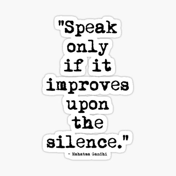 Mahatma Gandhi Silence Sticker