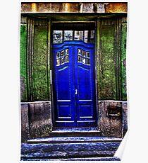 The Old Blue Door Fine Art Print Poster