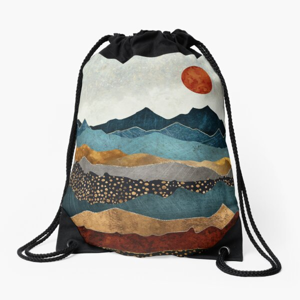 Amber Dusk Drawstring Bag