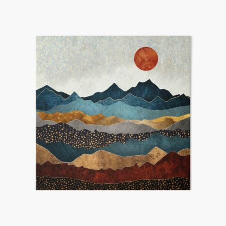 Amber Dusk Art Board Print