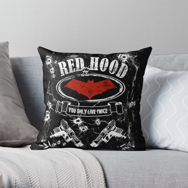 Red Hood - label whiskey style Throw Pillow