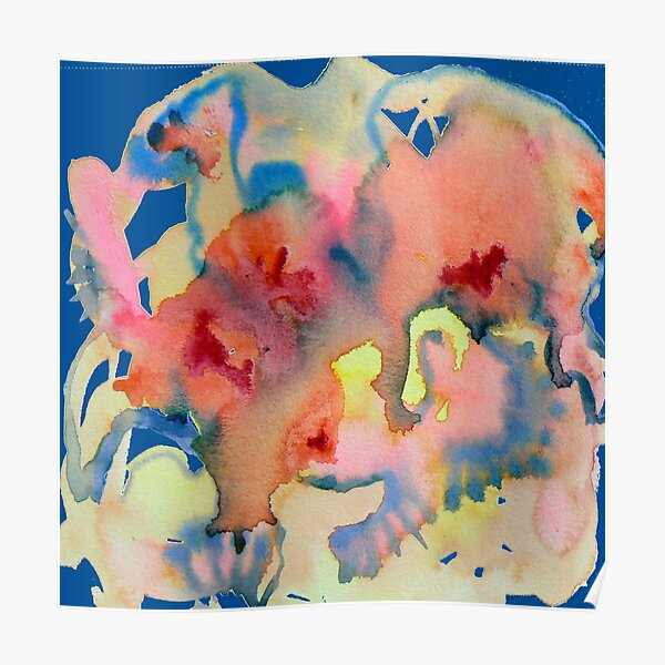 Watercolor for Lisa, abstract Poster