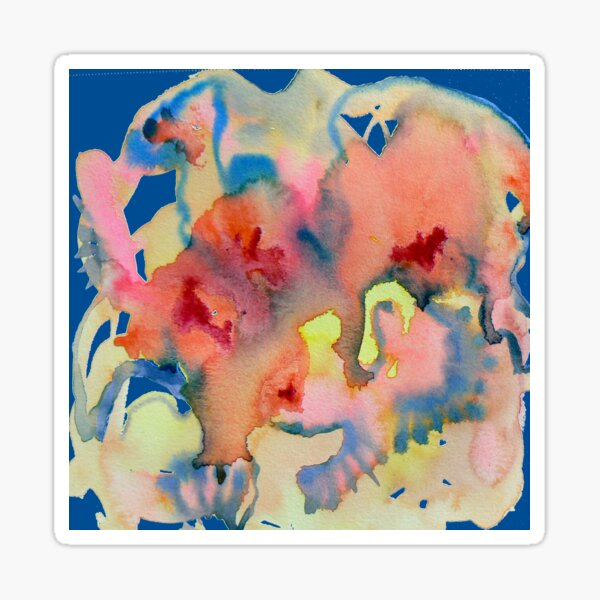 Watercolor for Lisa, abstract Sticker