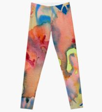 Watercolor for Lisa, abstract Leggings
