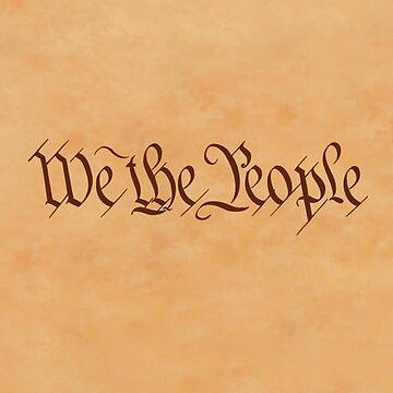 America, American, We the People, on Vellum, United States Constitution, Congress, Pure & Simple by TOMSREDBUBBLE